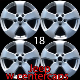 Wheels New 18 Jeep Grand Cherokee Silver Wheels Rims 9105 2012 2011
