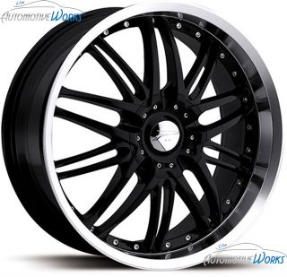 Platinum 200 Apex 5x100 5x115 40mm Black Machined Wheels Rims Inch 18