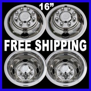 Steel Wheel Simulators Dually 8 Lug Rim Skins Liners Covers