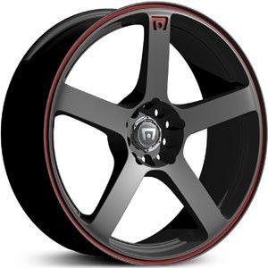 18 inch Motegi Racing MR116 Black Wheels Rims 5x4 25 5x108 35