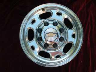 Chevy GMC 1500HD 2500 3500 SRW Wheel Rim 5079 16x6 5 Factory Polished