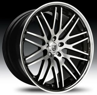 22 Lexani Wheels CVX 44 Stagger Concave Rims Tires Challenger BMW 745
