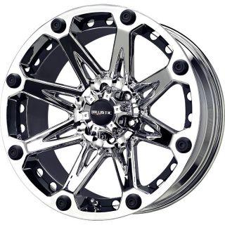 22 inch Ballistic Jester Chrome Wheels Rims 5x150 12 Toyota Tundra