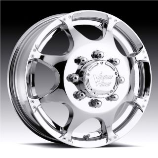 CRAZY EIGHTZ CHROME F 350 RAM SILVERADO GMC CK DUALLY WHEELS RIMS