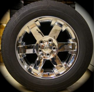 New Dodge RAM Chrome 20 Factory Wheels Rims Tires  2002