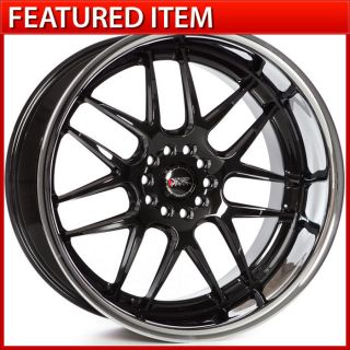 20x11 5x114 3 5x120 GLOSS BLACK STAGGERED WHEELS RIMS 350Z G35 370Z