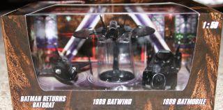 2012 RARE Set of 3 Batman Hot Wheels 1 50 Diecast Cars Batwing Batboat