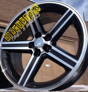 22 inch Black IROC Wheels Rims Tires 5x120 65 Impala Caprice