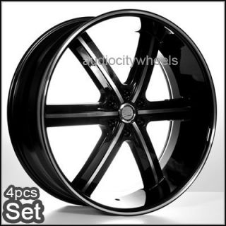 24AC55 Wheels 2Tone Black Rims Chevy Chevy Cadillac