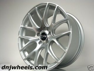 Audi A3 A4 VW Jetta Golf GTI CC Silver Black Mesh Custom Wheels
