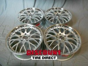 Used 18x7 5 5x120 5 120 Dr 19 Silver Machined Lip Wheels Rims