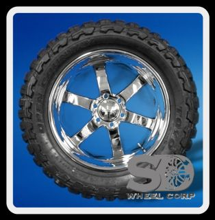 330 Chrome w 33x12 50x20 Toyo Open Country MT Tires Wheels Rims