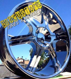22 inch Velocity Wheels Rims Tires VW935 5x115 5x120 22x9 13 BMW 645