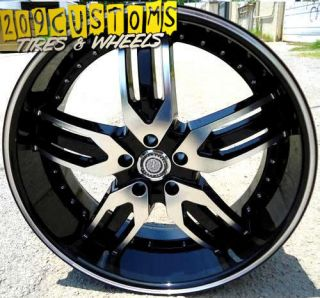 22 inch Rims Velocity Wheels Tires VW125 5x115 22x9 13 Offset Dodge