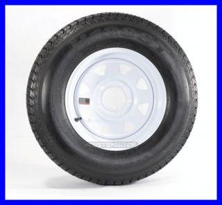 Trailer Tire Rim B78 13 13St 13 5 Lug Hole Bolt Wheel White Spoke