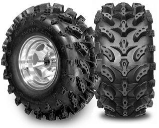 27x14 Swamp Lite Tires 14 in Diablo Rims Polaris RZR
