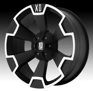 22 inch 22x10 KMC XD Black Wheels Rims 5x150 Toyota Tundra Sequoia