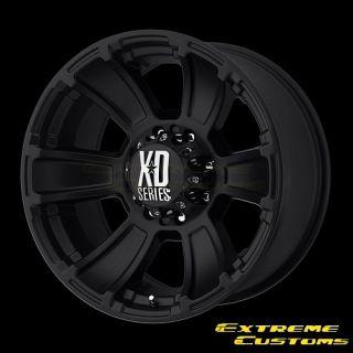 XD Series XD796 Revolver Matte Black 6 8 Lugs Wheels Rims FREE LUGS