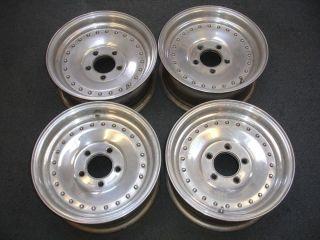 Polished Aluminum Center Line Wheels Rims From 1967 Firebird 14x7 LOOK