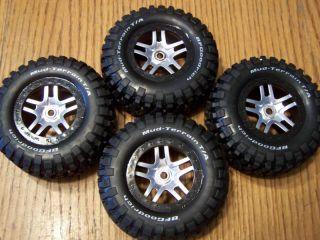 Traxxas 5907 Slayer Pro BF Goodrich Tires 14mm Black Wheels Tire Wheel