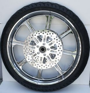 Aftermath Chrome 21 Wheels Tires 4 Harley 09 13 FLHX FLTR FLH Package