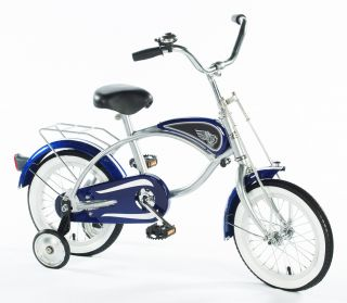 Blue Cruiser 14 Bicycle with Training Wheels Ride on Toy by Morgan