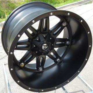 BLACK FUEL HOSTAGE DEEP WHEELS RIMS FORD F250 F350 EXCURSION 8X170