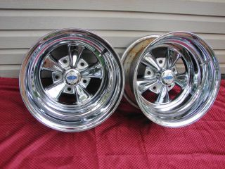 Vintage Cragar SS Chrome Wheels 15x10 5 Bolt 5 5 Bolt Circle Ford