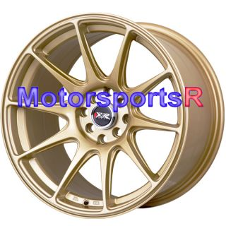17 XXR 527 Gold Concave Rims Wheels Staggered 4x114 3 Stance 98 Nissan