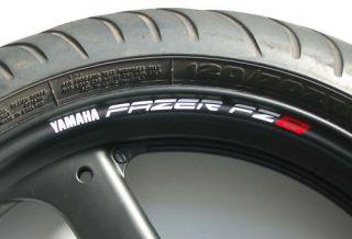 FZ8 Fazer Wheel Rim Stickers Decals FZ 8 FAZER8 FZ 8