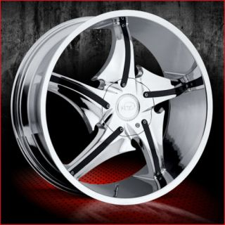 24 Chrome Wheels Rims Tires 6x139 135 Ford Chevy GMC