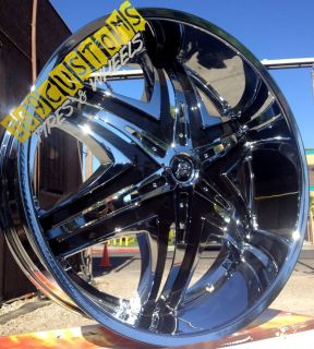24 inch Rims Wheels Tires Diablo Elite Chrome 6x139 7 Cadillac