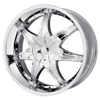 24 inch DIP Libra Chrome Wheels Rims 6x5 5 FJ Cruiser Sequoia Tacoma