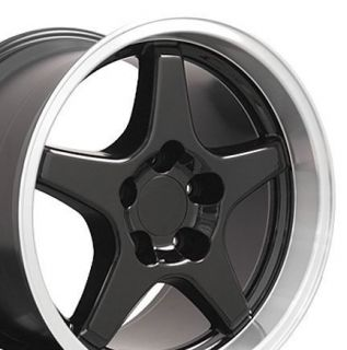 17 9 5 11 Black C4 ZR1 Wheels Rims Fit Camaro Corvette