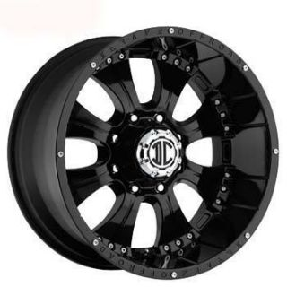 Xtreme Offroad NX 1 20x10 8x170 Et 25 Black Wheels 4 New Rims