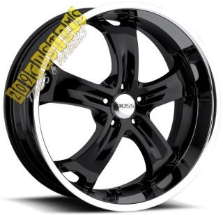 22 inch Boss Wheels 329 Black Rims Tires 5x115 Chrysler 300 300C 2011
