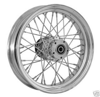 DNA 40 Spoke 21X2 15 Front Billet Wheel Chrome Harley