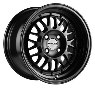 16 Stance Mindset Black Rims Wheels 16x8 25 5x114 3
