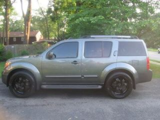 22 inch Rims Black Trench Wheels Rims Pathfinder Frontier Tires