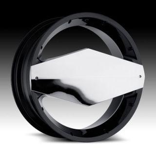 24 Wheels Rims Vision Morgana Black NSX XG350 Camaro