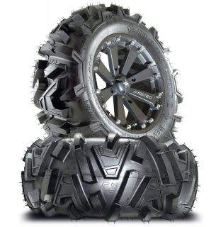 MSA M20 Kore ATV UTV Wheels Rims on 26 Moto MTC Tires Polaris Ranger