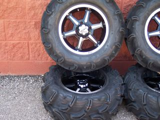 27 Yamaha Grizzly Maxxis Zilla ATV Tire 14 B6 Wheel Kit Complete
