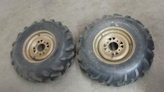ARCTIC CAT ATV LIKE NEW rims tires Good year mud runner 25x8x12