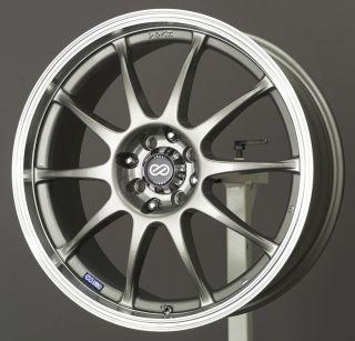 15x6 5 Enkei J10 Silver Wheel Rim s 4x108 4 108 4x4 25 15 6 5