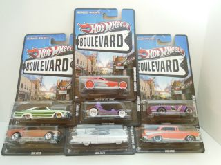 2012 Hot Wheels Boulevard New Complete Case B Lot of 7 Cars New Series