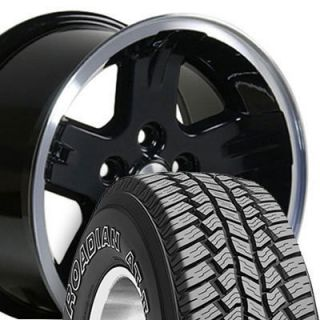 15x8 Black Wrangler Wheels Rims 31x10 5 Tires Fits Jeep