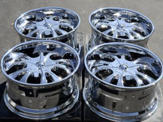 6x139 7 Chrome Wheels Suzuki Equator Dakota Dodge Durango 6 Lug Rims