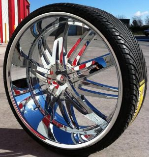22 Hoyo 7 Wheels Tires Rims 5x115 Charger Magnum Challenger Nitro