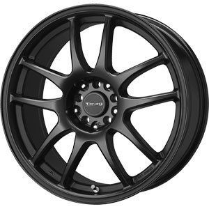 New 17x9 5x100 5x114 3 Drag Dr 31 Black Wheels Rims