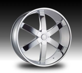 24 Chrome Rims Tires 6x139 Chevy Silverado Tahoe GMC